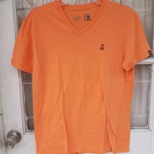 Psycho Bunny Mens V Neck T Shirt Sz S